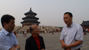 Mr. Kawai and Mr. Iida visited China to see the energy revolution in China.